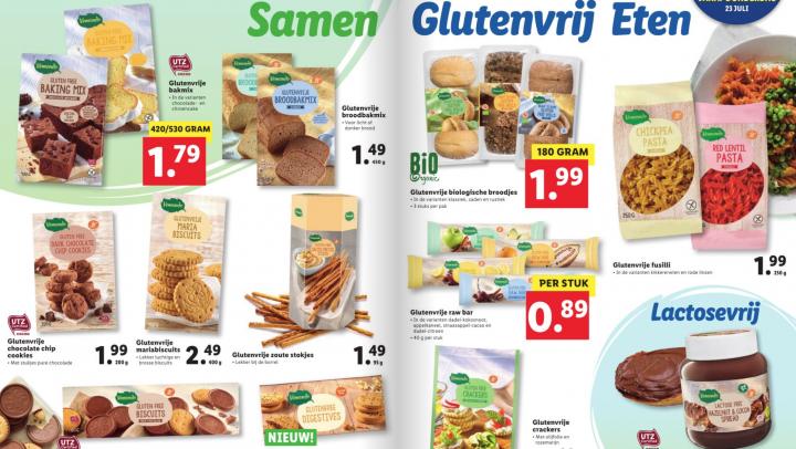 Glutenvrije actieweek bij Lidl: dit scoor je vanaf 23 juli 2020